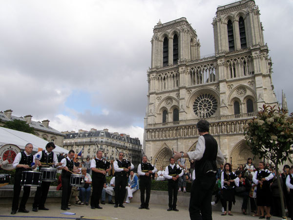 A festival near the Notre Dame de Paris