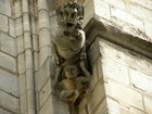 Gargoyles for Sain Severin church work as the drains for the guttering water