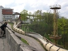 The track of bobsleigh in Sigulda, Latvija