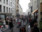 Paris Flea market in Mouffetard streat